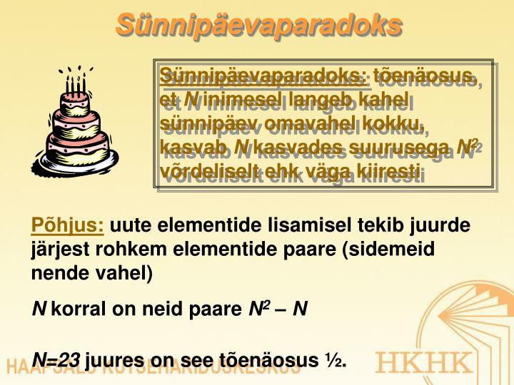Sünnipäevaparadoks