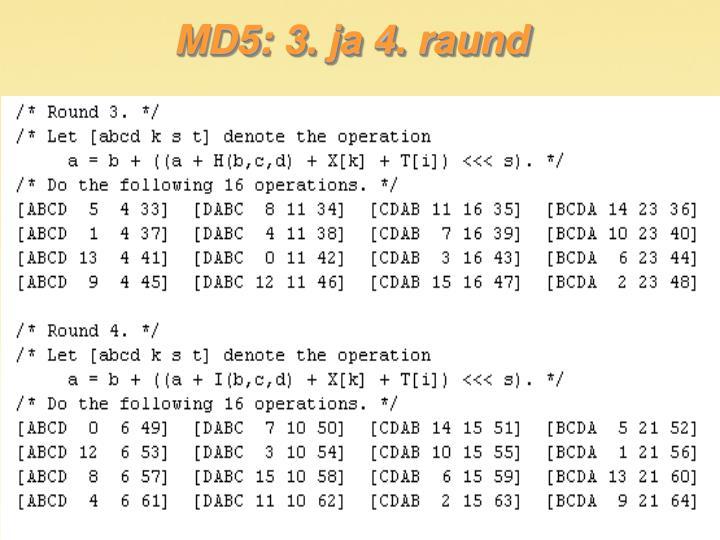 MD5: 3. ja 4. raund