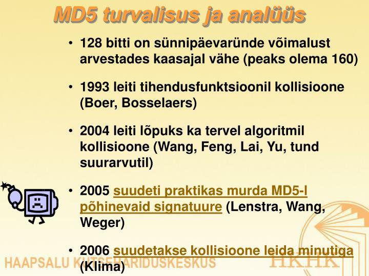 MD5 turvalisus ja analüüs