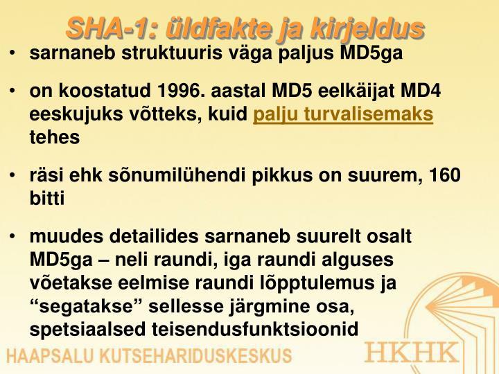 SHA-1: üldfakte ja kirjeldus