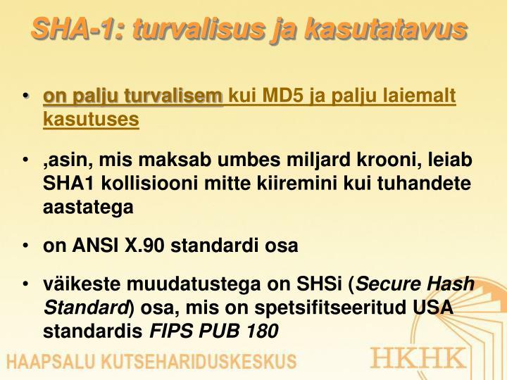 SHA-1: turvalisus ja kasutatavus