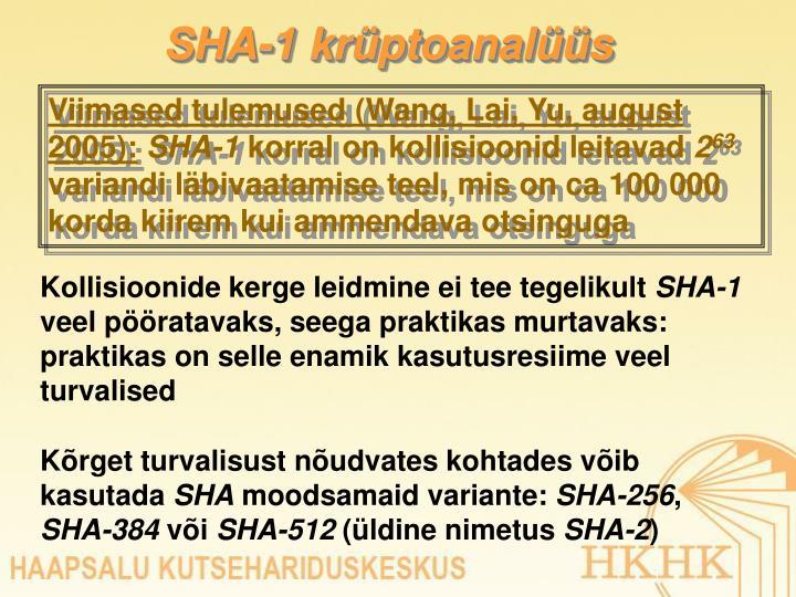 SHA-1 krüptoanalüüs