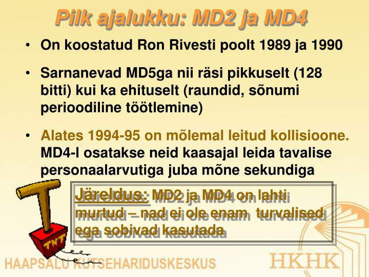 Pilk ajalukku: MD2 ja MD4