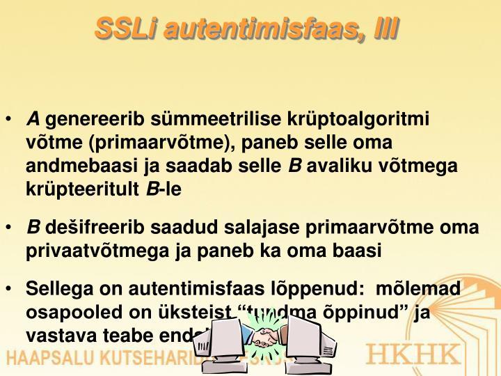 SSLi autentimisfaas