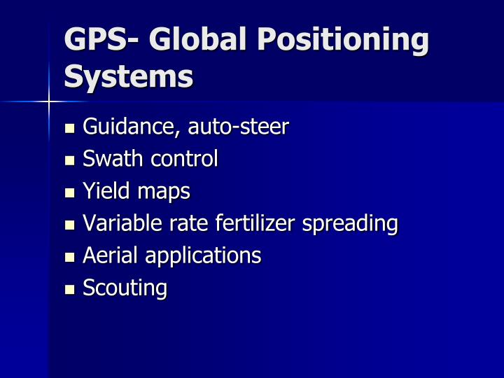GPS- Global Positioning Systems