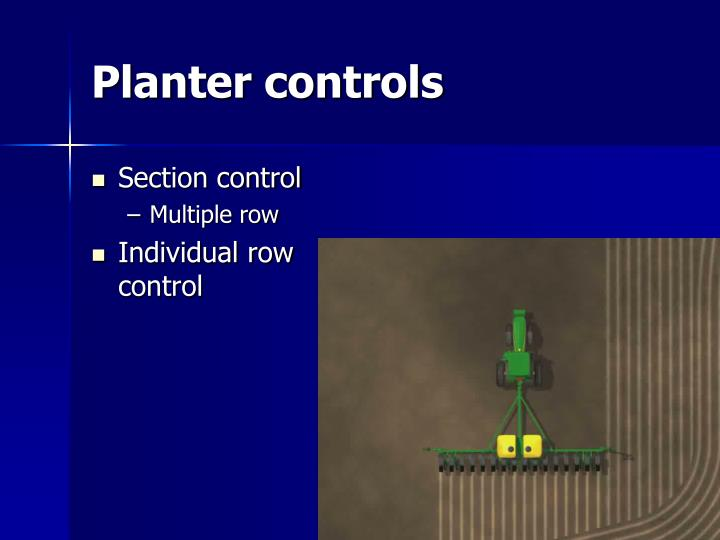 Planter controls