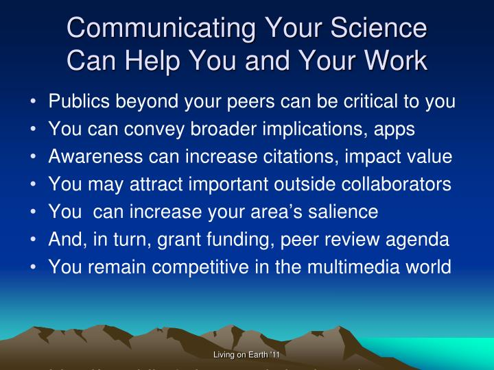 Communicating Your Science