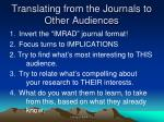 translating from the journals to other audiences