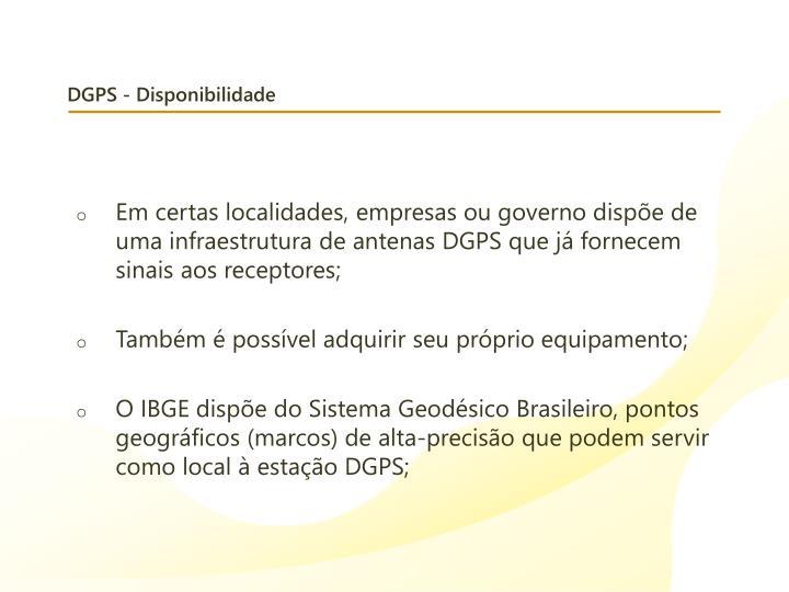 DGPS - Disponibilidade