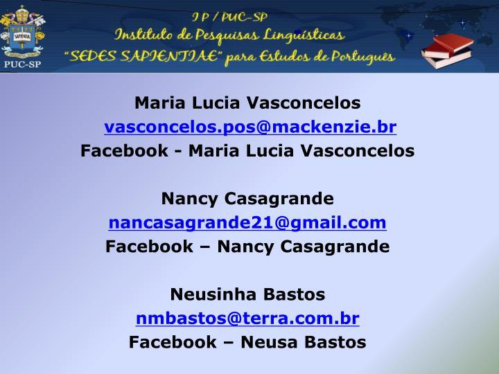 Maria Lucia Vasconcelos