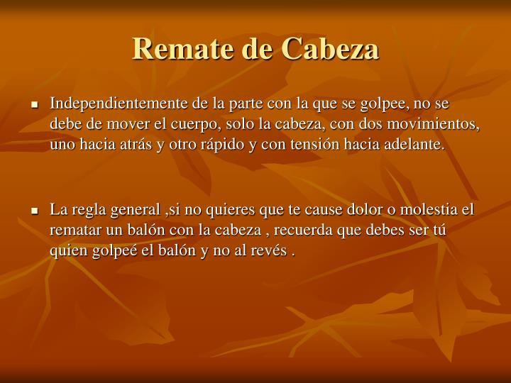 Remate de Cabeza