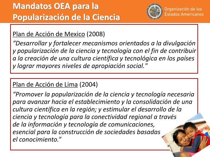 Mandatos OEA para la