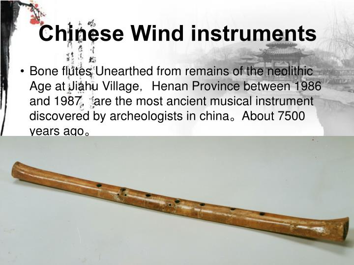Chinese Wind instruments