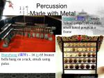 percussion made with metal