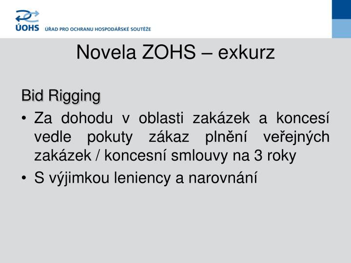 Novela ZOHS – exkurz