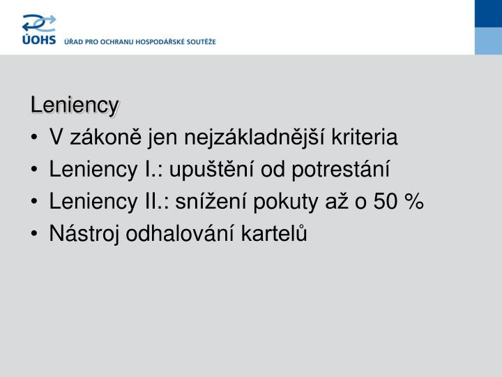 Leniency