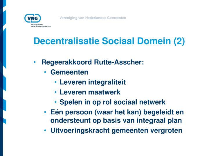 Decentralisatie Sociaal Domein (2)