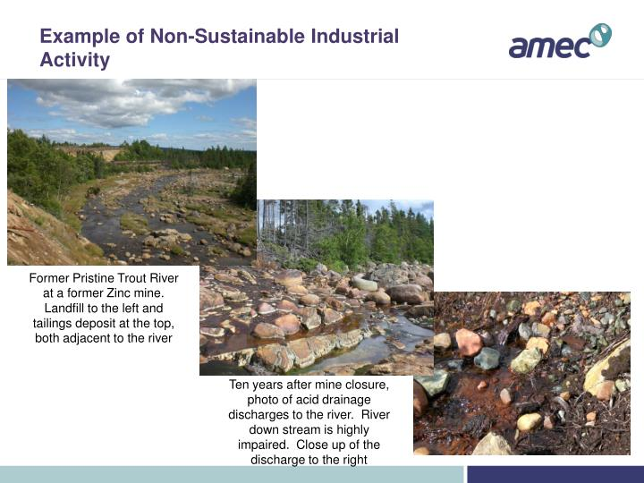 Example of Non-Sustainable Industrial Activity