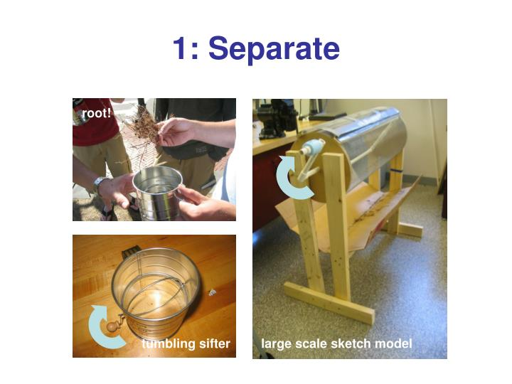 1: Separate