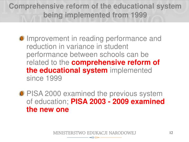 the changes in the educational system The pnp government elected in 1972 initiated major changes in the educational system qualitative and quantitative improvements in education were identified as the key elements of the new government's program during its first term in office (1972-76) the two most.