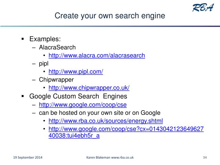 Create your own search engine