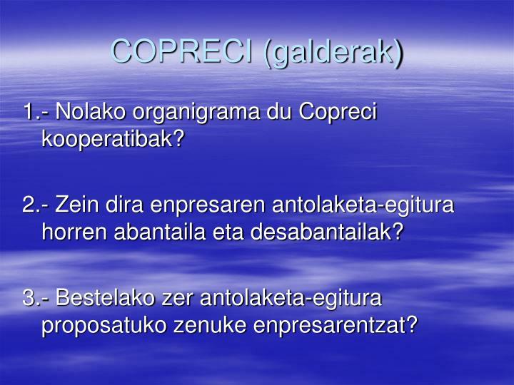 COPRECI (galderak)