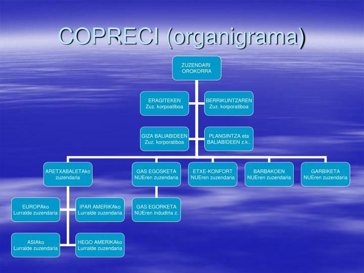 COPRECI (organigrama)