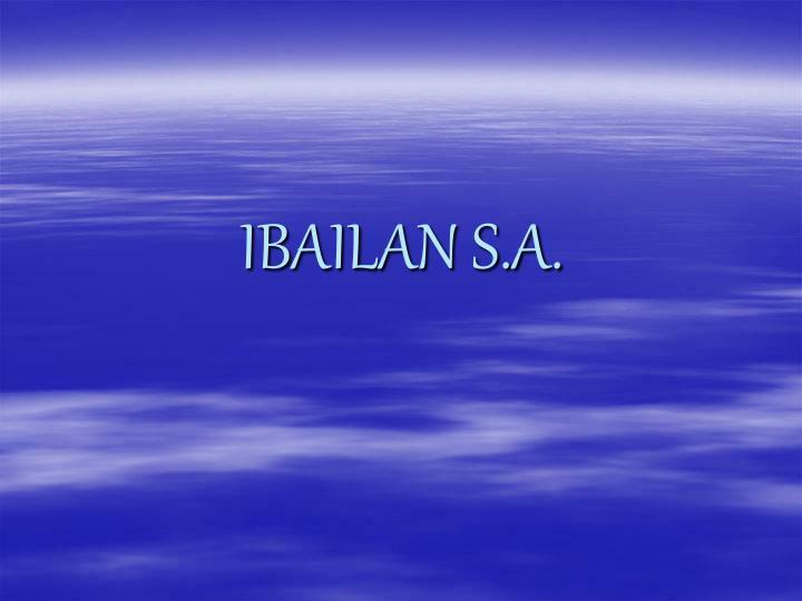 IBAILAN S.A.