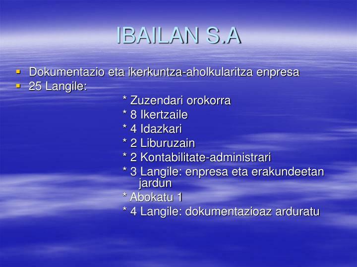 IBAILAN S.A