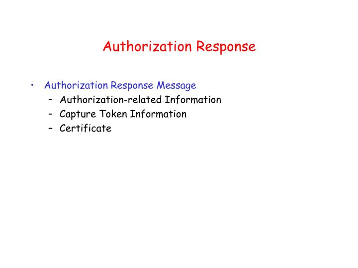 Authorization Response