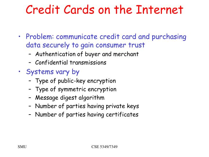 Credit Cards on the Internet