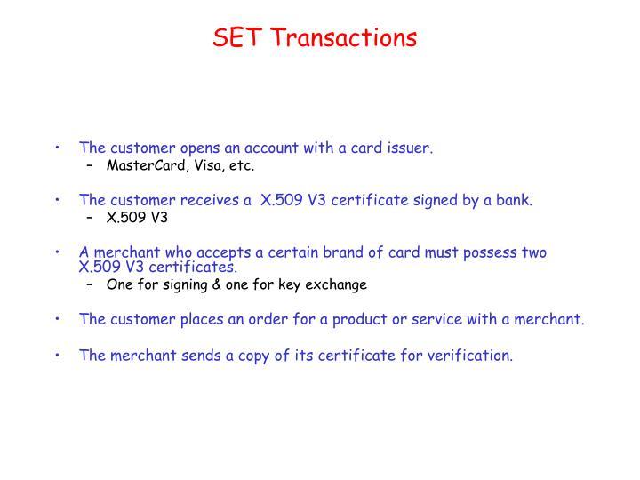 SET Transactions