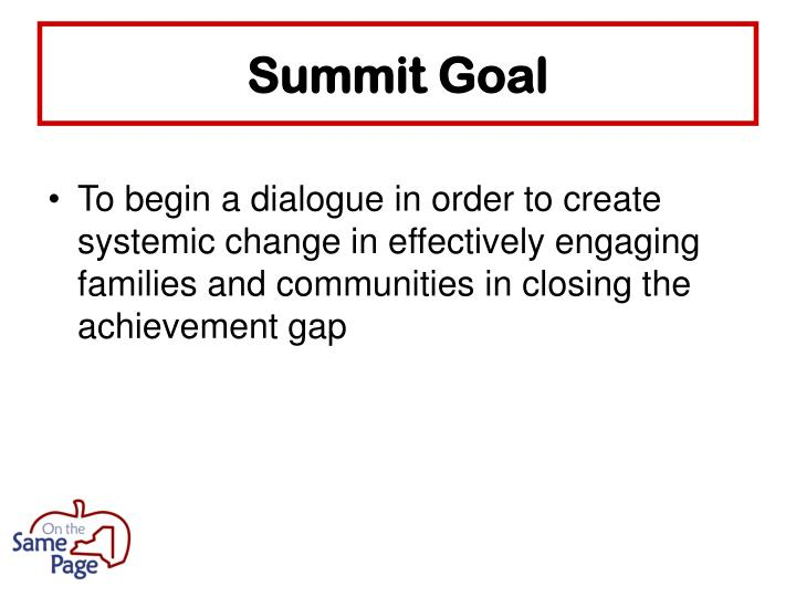 Summit Goal