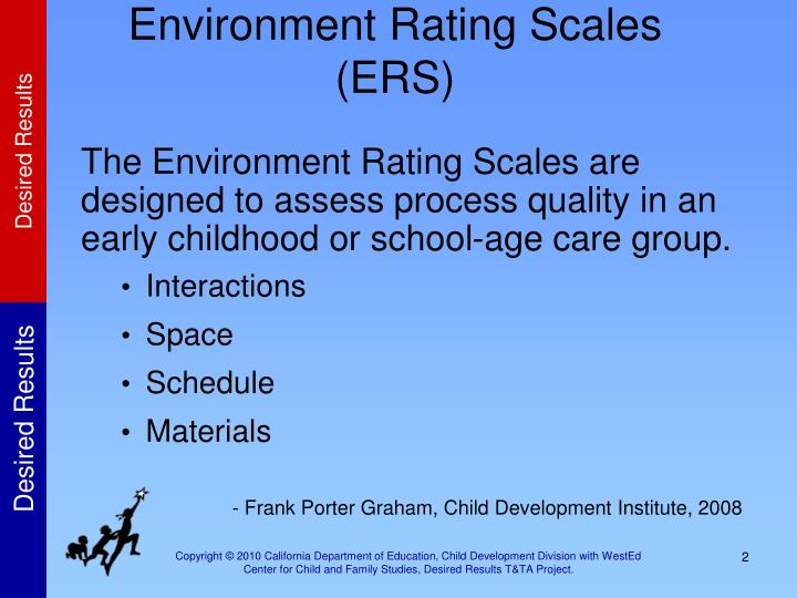 Environment rating scales ers