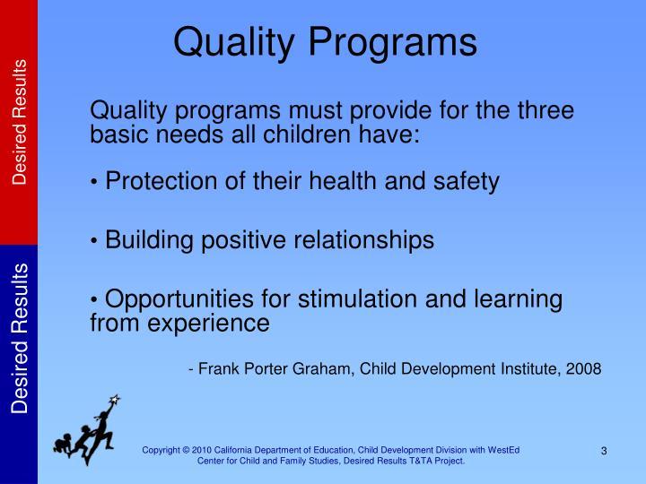 Quality Programs