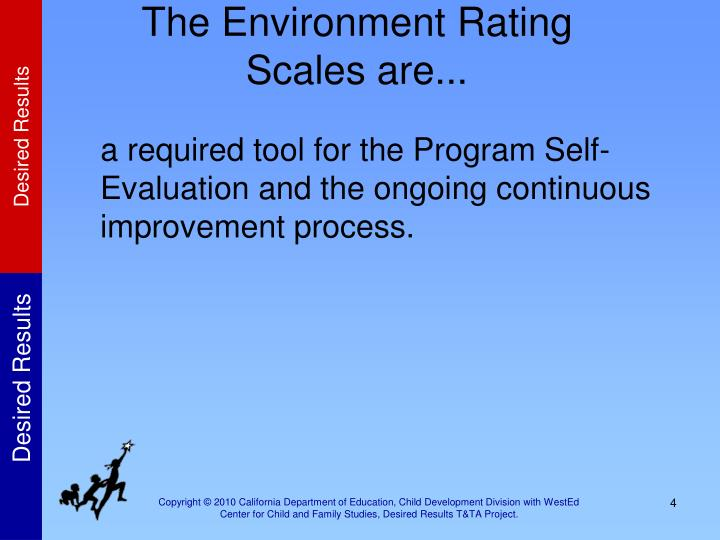 The Environment Rating Scales are...