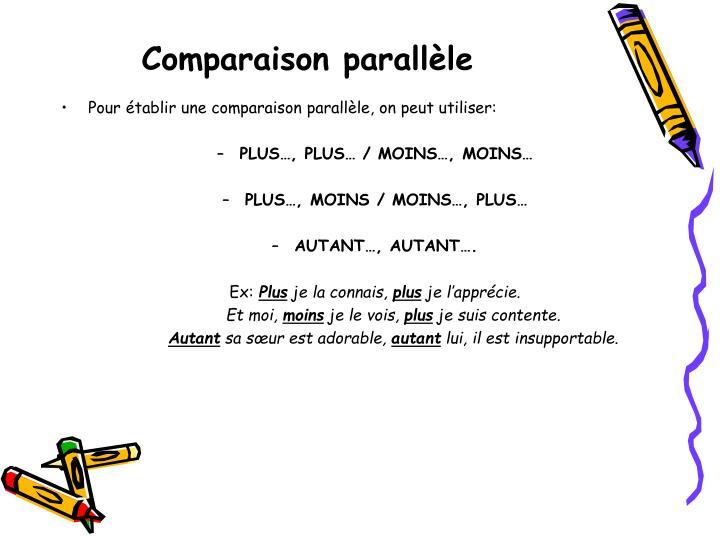 Comparaison parallèle
