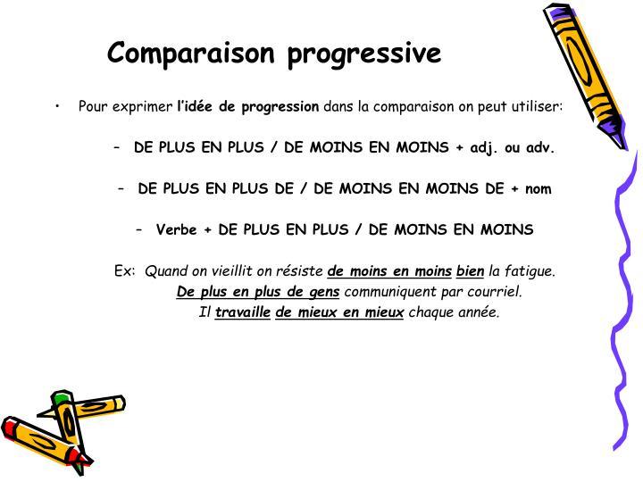 Comparaison progressive