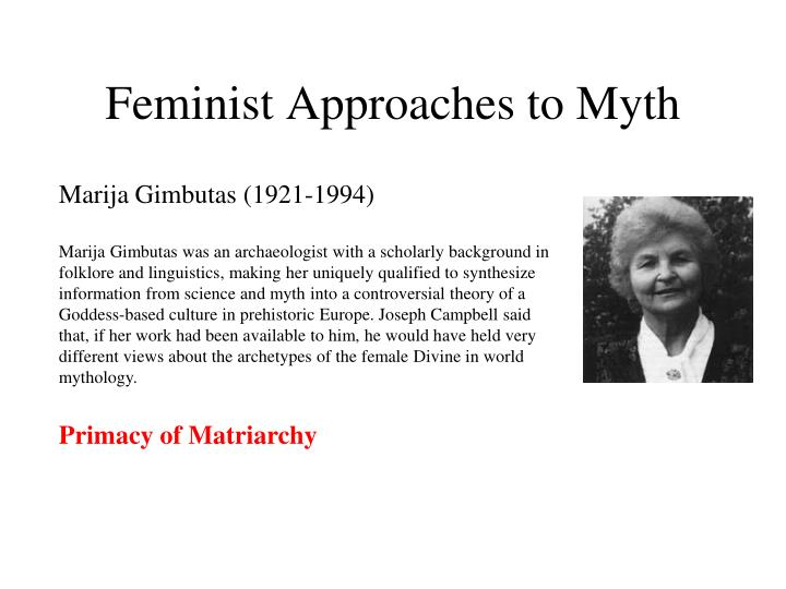 Feminist Approaches to Myth