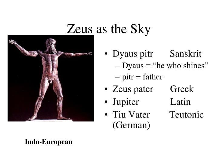 Zeus as the Sky