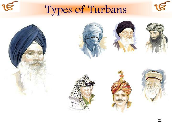 Types of Turbans