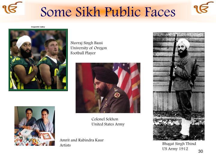 Some Sikh Public Faces