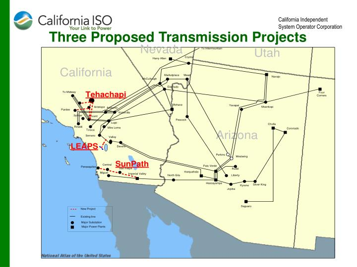Three Proposed Transmission Projects