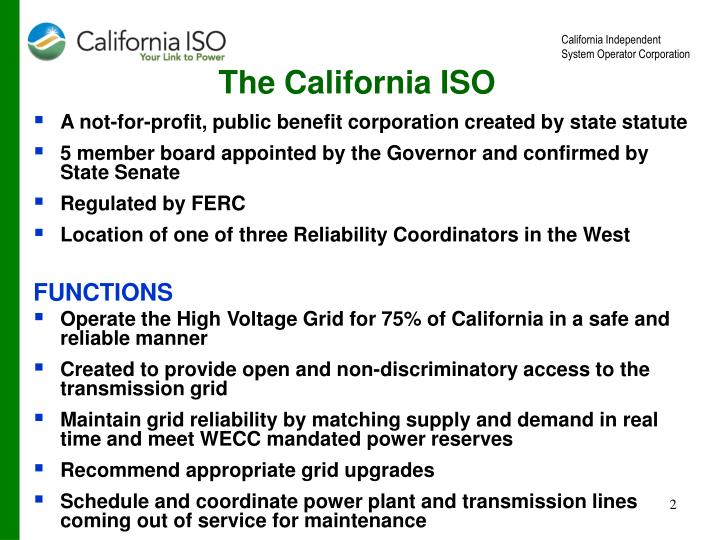 The california iso
