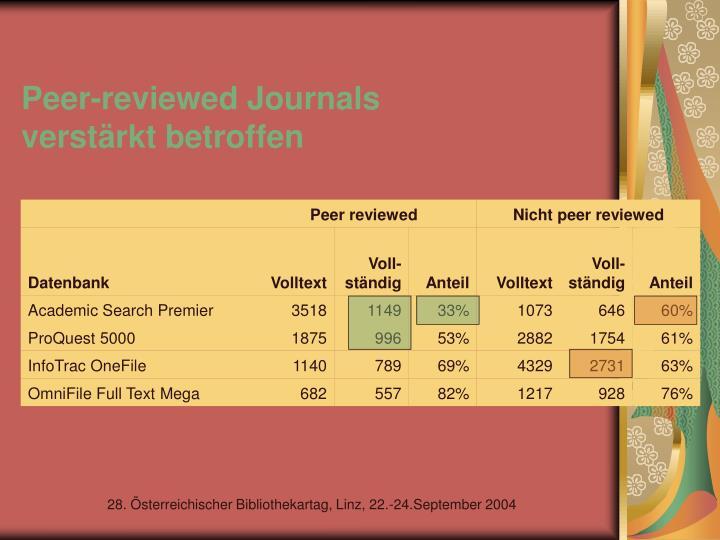 Peer-reviewed Journals