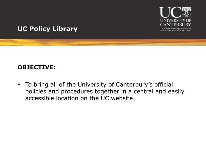 UC Policy Library