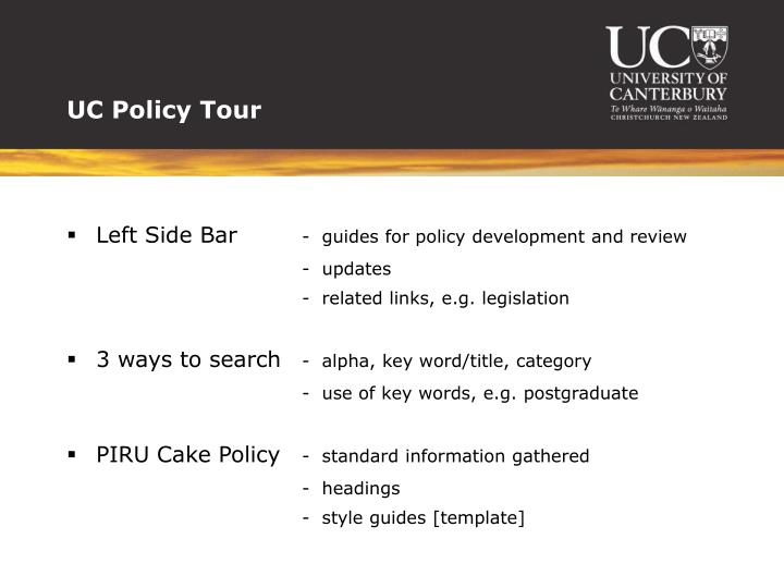UC Policy Tour