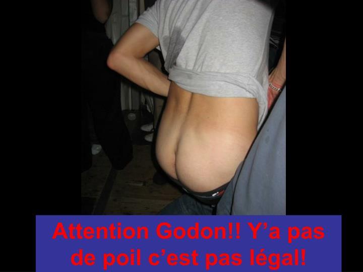 Attention Godon!! Y'a pas de poil c'est pas légal!