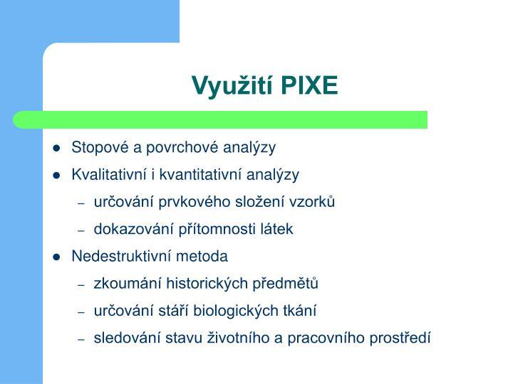 Využití PIXE