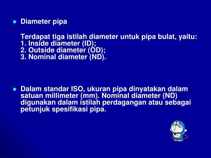 Diameter pipa